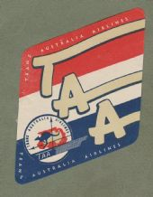 Airline luggage label TAA Australian airlines #866